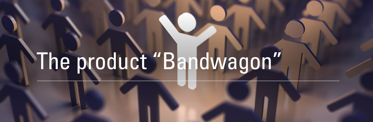 "Banner image titled ""The product Bandwagon"""