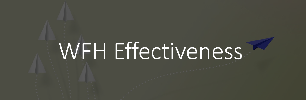 "A banner that reads ""WFH Effectiveness"""