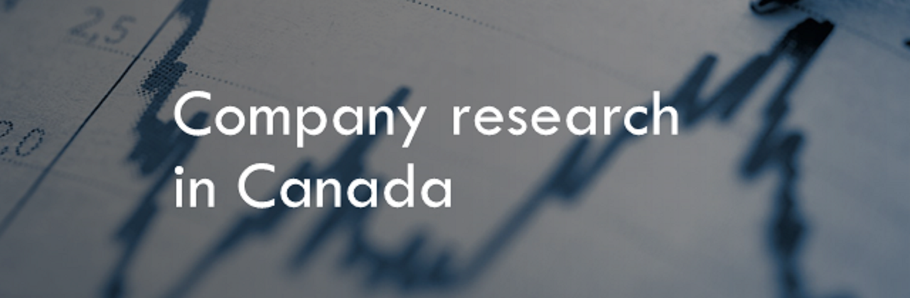 "A banner image with the words ""Company research in Canada"" on it"