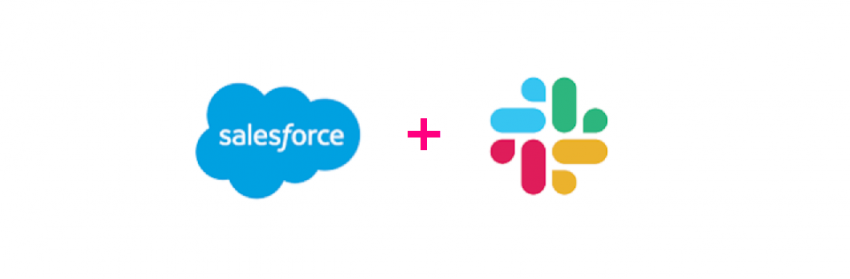 A banner image with a Salesforce logo and a Slack logo
